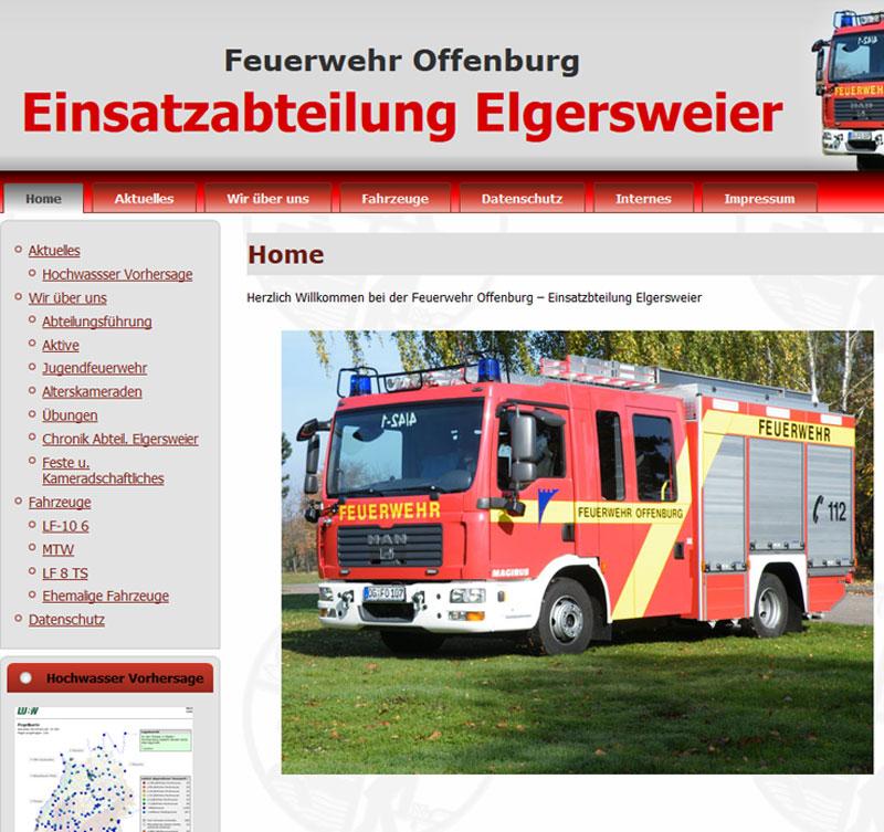 Feuerwehr in Elgersweier