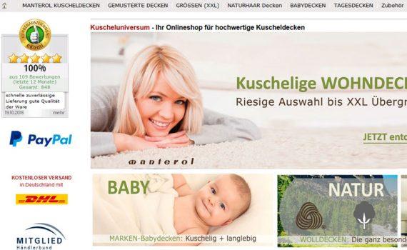 Onlineshop für hochwertige Kuscheldecken