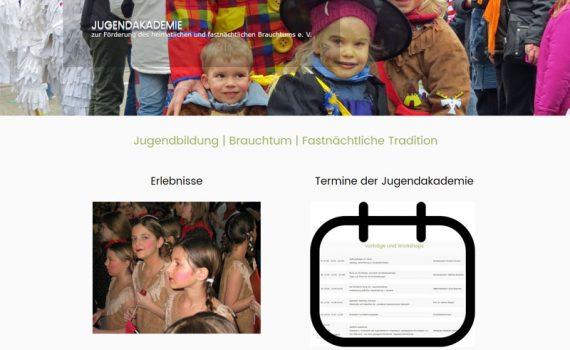 Bild der Internetseite der Jugendakademie e. V. in Kehl