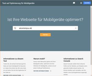 Check auf Mobilfähigkeit Ihrer Internetseite